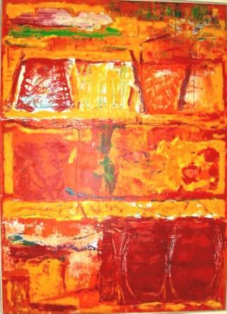 Sommer Sequenz, 80x100cm, Acryl auf Leinwand, 1999