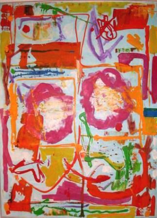 Sunny day`s bliss, 80x100cm, Acryl auf Leinwand, 1999