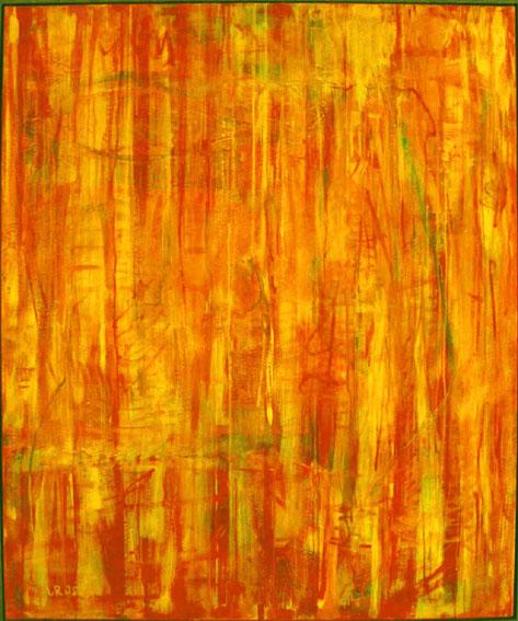 The heat is on,100x120cm, Acryl auf Leinwand, 1995