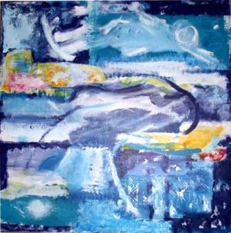Weisse Zeit, 70x70cm, Acryl auf Leinwand, 2002