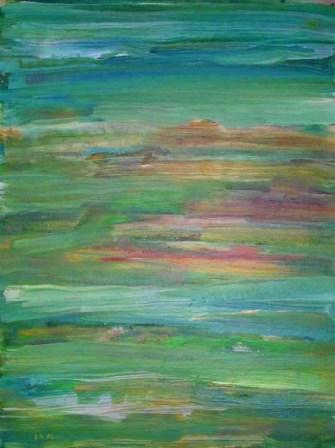 terreno 10, 80x60cm, Acryl-Karton, 1996